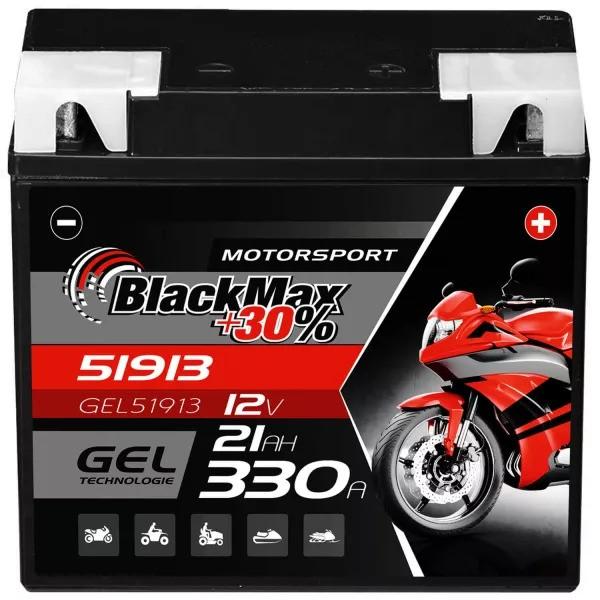 G19 BMW Motorradbatterie 12V 21Ah BlackMax Gel (DIN 51913)