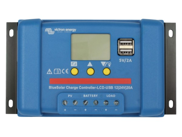 Victron BlueSolar 20A PWM Solar-Laderegler 12V/24V Batterie