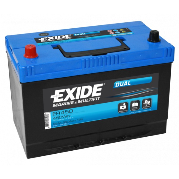 Exide ER450 Dual 95Ah Marinebatterie 450Wh