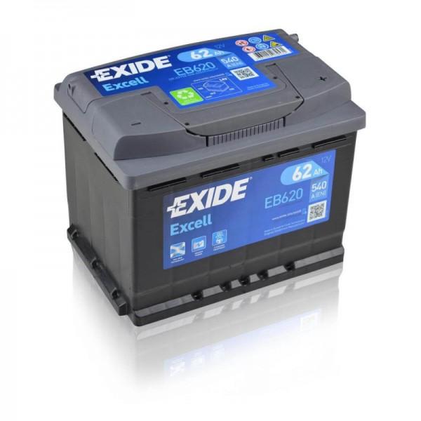 Exide-EB620-Excell-62Ah-Autobatterie