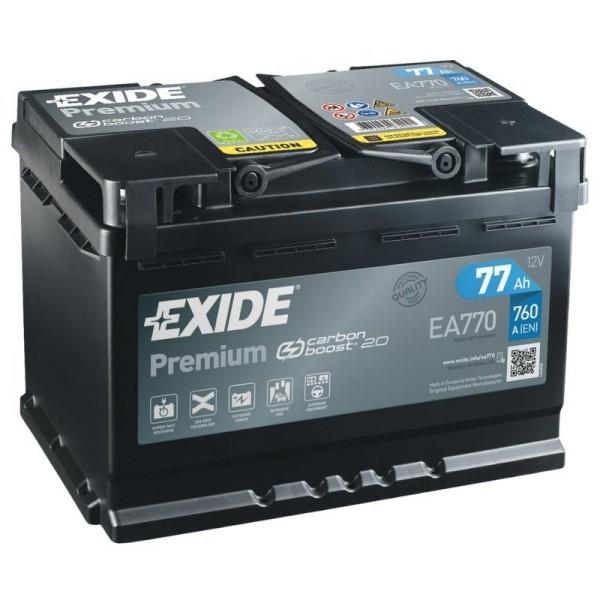Exide EA770 Premium Carbon Boost 77Ah Autobatterie 577 400 078