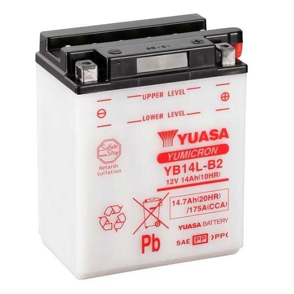 Yuasa YB14L-B2 Motorradbatterie 14Ah (DIN 51413) Yumicron 12V