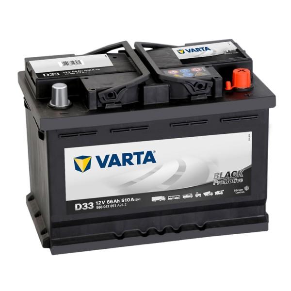 VARTA D33 ProMotive Black 566 047 051 Autobatterie 66Ah