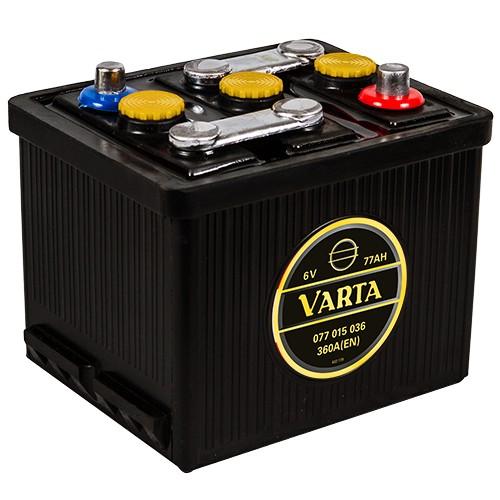 VARTA 077 015 036 Classic 6V Oldtimer-Batterie 77Ah