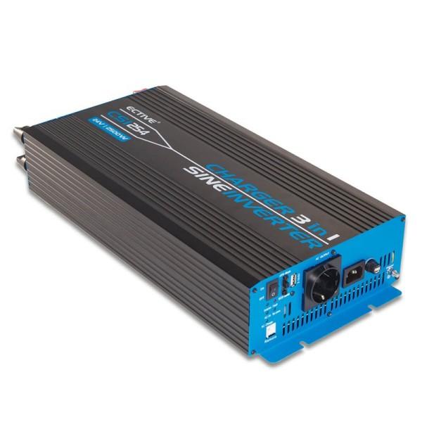 ECTIVE CSI252 Sinus Charger-Inverter 2500W/12V Sinus-Wechselrichter mit Ladegerät und NVS