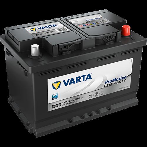 VARTA D33 ProMotive Heavy Duty 566 047 051 LKW-Batterie 66Ah