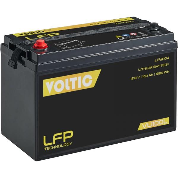 VOLTIC VLI100L 12V LiFePO4 Lithium Versorgungsbatterie 100Ah