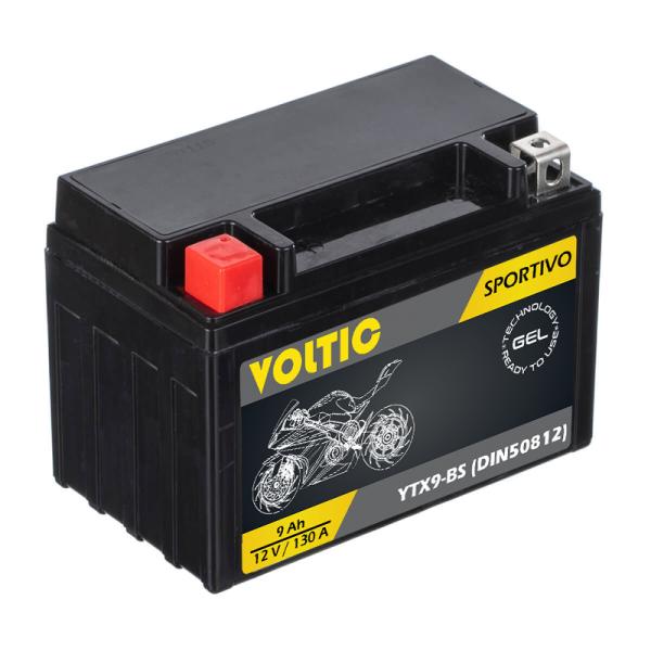 VOLTIC Sportivo GEL YTX9-BS Motorradbatterie 9Ah 12V (DIN 50812)