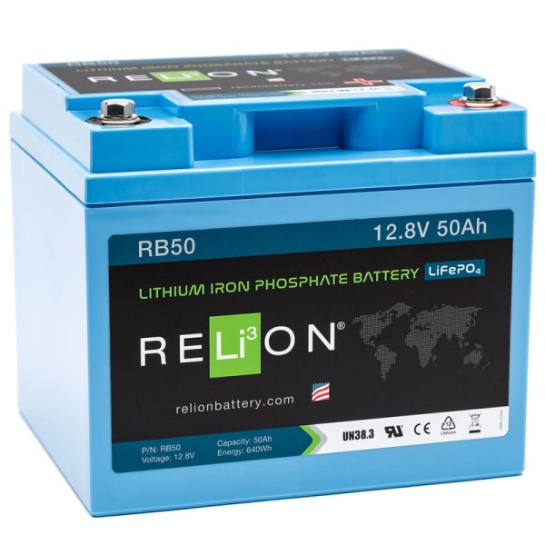 RELiON RB50 50Ah 12V LiFePO4 Lithium Versorgungsbatterie