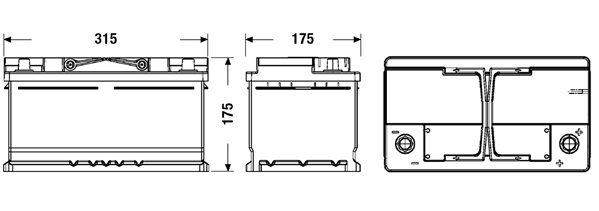 Exide El752 Efb Autobatterie 75ah Swissbatt24