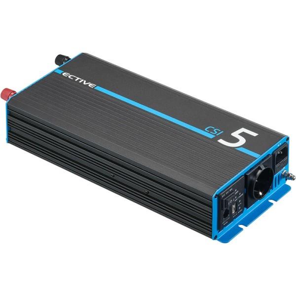 ECTIVE CSI 5 500W/12V Sinus-Wechselrichter mit Ladegerät, NVS- und USV-Funktion