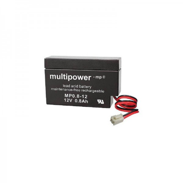 Multipower-MP0,8-12S-JST-Stecker-0,8Ah-USV-Batterie