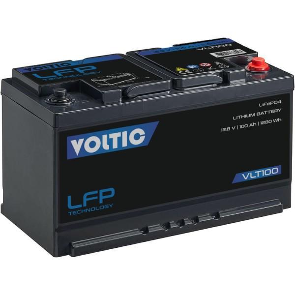 VOLTIC VLT100 12V LiFePO4 Lithium Versorgungsbatterie 100Ah