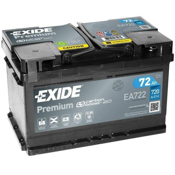 Exide EA722 Premium Carbon Boost 72Ah Autobatterie 574 402 075