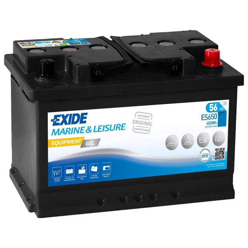 exide es650 equipment gel 56ah batterie gel g60. Black Bedroom Furniture Sets. Home Design Ideas