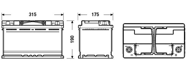 Exide El800 Efb Autobatterie 80ah Swissbatt24