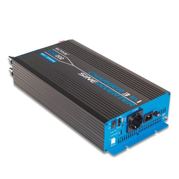 ECTIVE CSI202 Sinus Charger-Inverter 2000W/12V Sinus-Wechselrichter mit Ladegerät und NVS