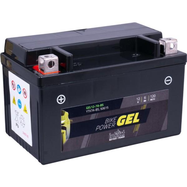 Intact GEL12-7A-BS Bike-Power GEL 6Ah Motorradbatterie (DIN 50615) YTX7A-BS
