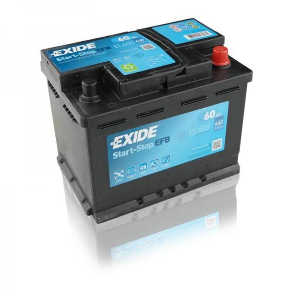 Exide EL600 EFB Autobatterie 60Ah