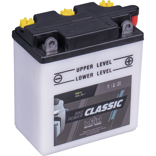Intact 6N6-3B-1 Conventional 6Ah Motorradbatterie 6V (DIN 00612)