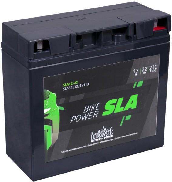 Intact SLA12-22 Bike-Power SLA 22Ah Motorradbatterie (DIN 51913) G19