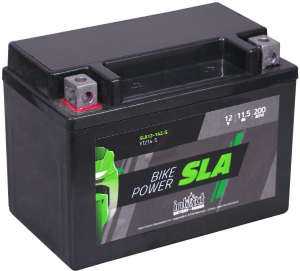 Intact SLA12-14Z-S Bike-Power SLA 11,5Ah Motorradbatterie (DIN 51101) YTZ14S, YTZ14-S