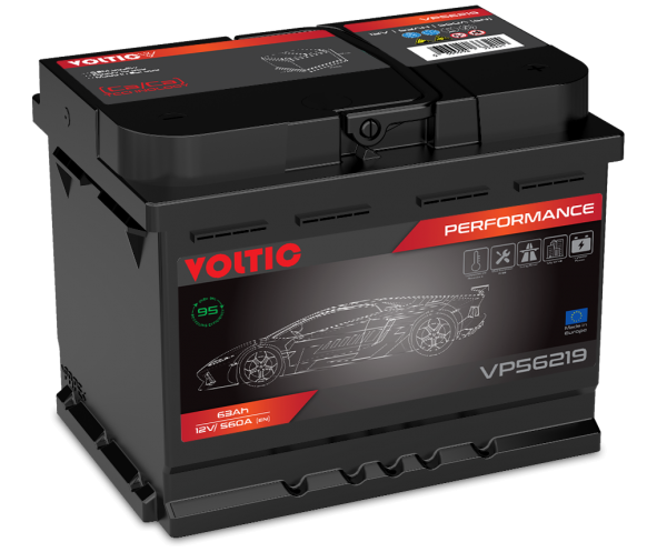 Voltic VP56219 Perfomance 63Ah Autobatterie