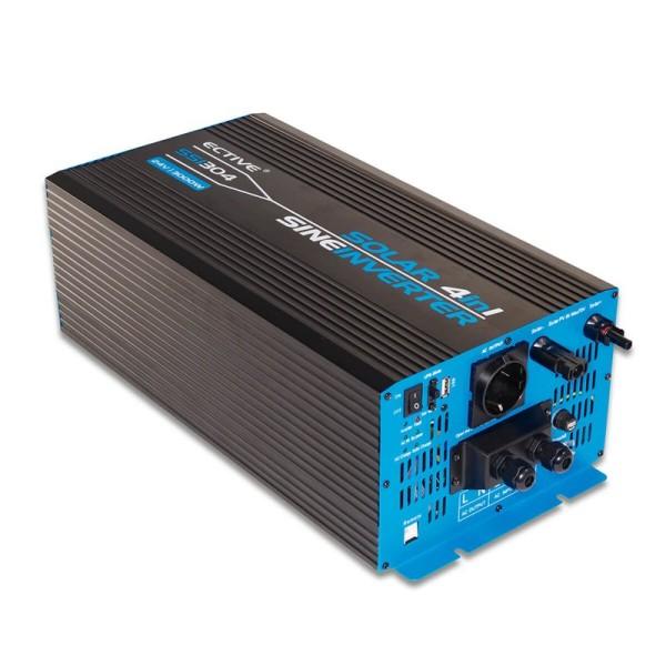 ECTIVE SSI302 4in1 Sinus-Inverter 3000W/12V Sinus-Wechselrichter mit MPPT-Solarladeregler, Ladegerät und NVS