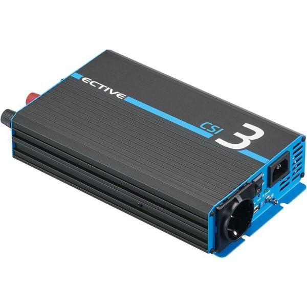 ECTIVE CSI 3 300W/12V Sinus-Wechselrichter mit Ladegerät, NVS- und USV-Funktion