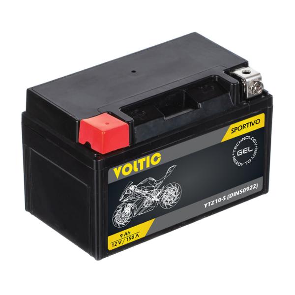 VOLTIC Sportivo GEL YTZ10-S Motorradbatterie 9Ah 12V (DIN 50922)