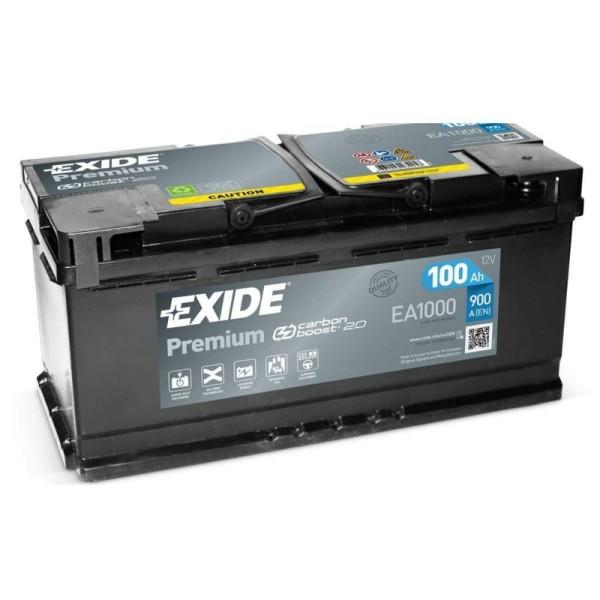Exide EA1000 Premium Carbon Boost 100Ah Autobatterie 600 402 083