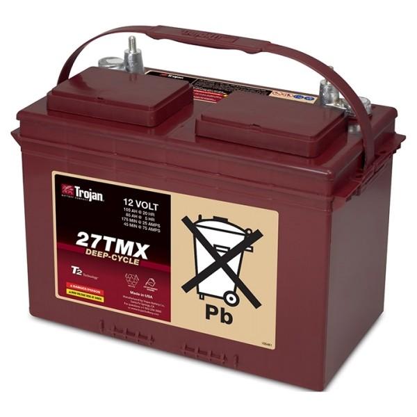 Trojan 27TMX Deep Cycle 12V Traktionsbatterie 105Ah
