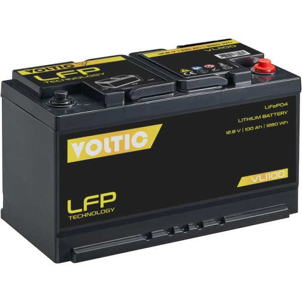 VOLTIC VLI100 12V LiFePO4 Lithium Versorgungsbatterie 100Ah