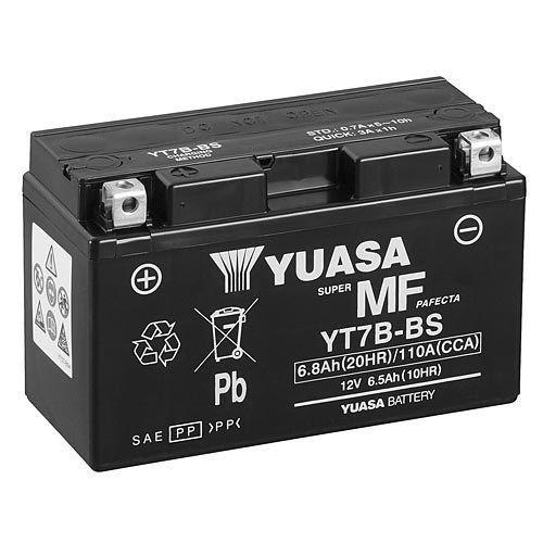 Yuasa YT7B-BS AGM Motorradbatterie 7Ah 12V (DIN 50719)