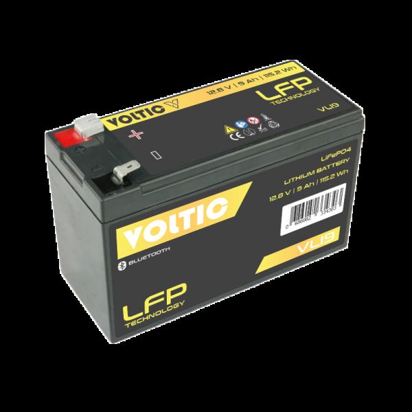 VOLTIC VLI9 12V LiFePO4 Lithium Versorgungsbatterie 9Ah mit App
