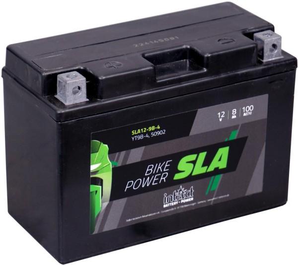 Intact SLA12-9B-4 Bike-Power SLA 8Ah Motorradbatterie (DIN 50801) YT9B-BS, YT9B-4