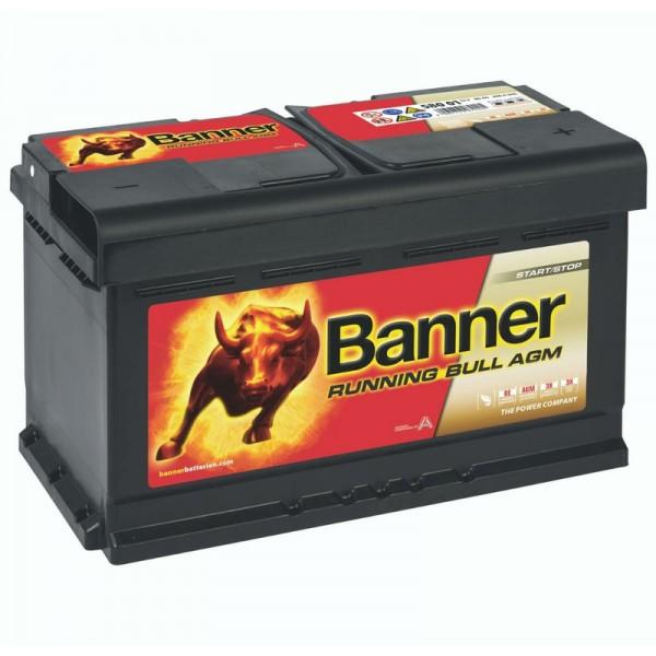 Banner 58001 Running Bull AGM 80Ah Autobatterie 580 901 080