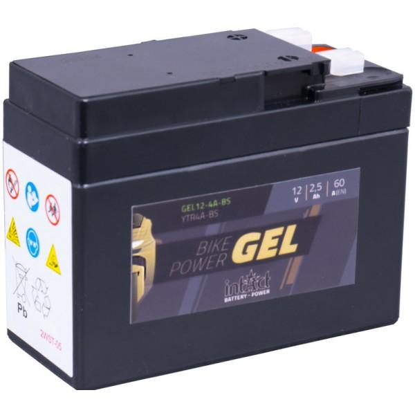 Intact GEL12-4A-BS Bike-Power GEL 2,5Ah Motorradbatterie (DIN 50415) YTR4A-BS