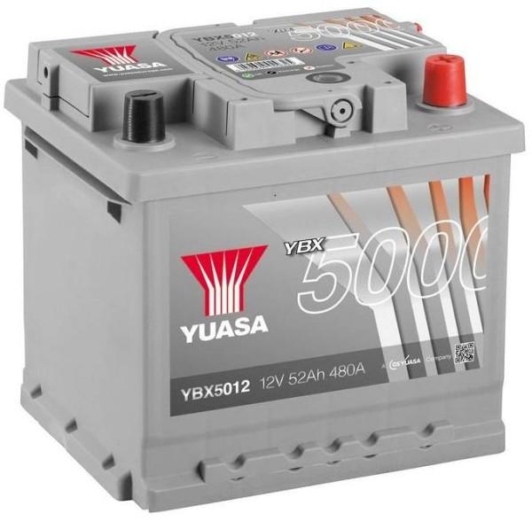 Yuasa YBX5012 Silver 52Ah Autobatterie