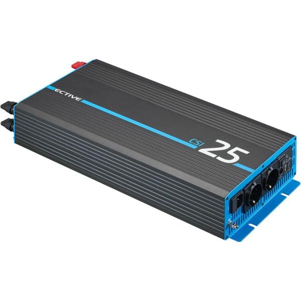 ECTIVE CSI 25 2500W/24V Sinus-Wechselrichter mit Ladegerät, NVS- und USV-Funktion