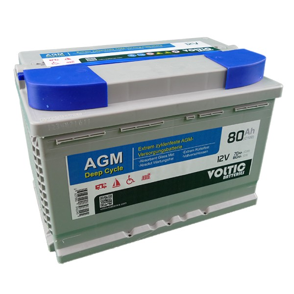 VOLTIC VDC80 Deep Cycle AGM 80Ah Batterie