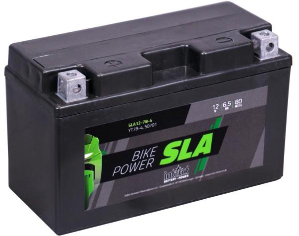 Intact SLA12-7B-4 Bike-Power SLA 6.5 Ah Motorradbatterie (DIN 50719) YT7B-BS, YT7B-4