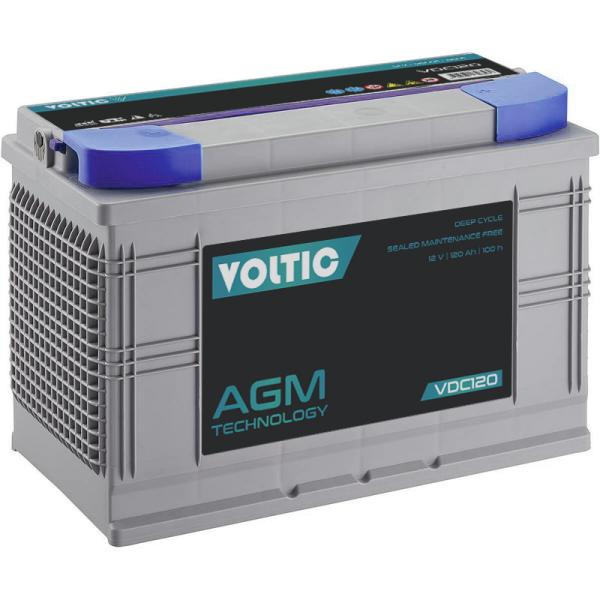 VOLTIC VDC120 Deep Cycle AGM 120Ah Batterie