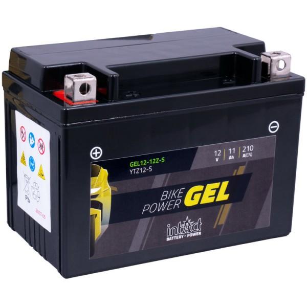 Intact GEL12-12Z-S Bike-Power GEL 11Ah Motorradbatterie (DIN 51120) YTZ12S, YTZ12-S