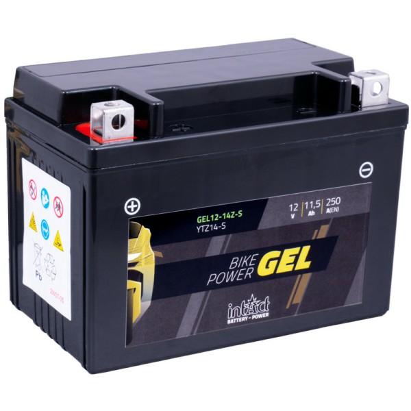 Intact GEL12-14ZS Bike-Power GEL 11,5Ah Motorradbatterie (DIN 51101) YTZ14S, YTZ14-S