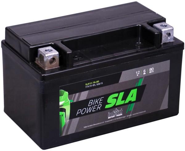 Intact SLA12-7A-BS Bike-Power SLA 6Ah Motorradbatterie (DIN 50615) YTX7A-BS