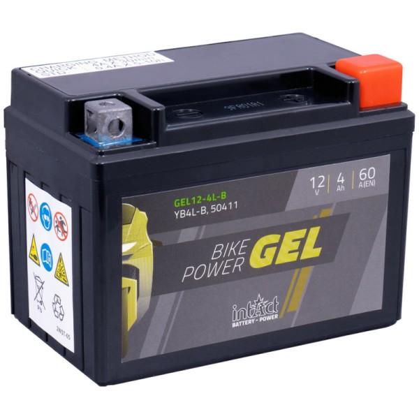 Intact GEL12-4L-B Bike-Power GEL 4Ah Rollerbatterie (DIN 50411) YB4L-B