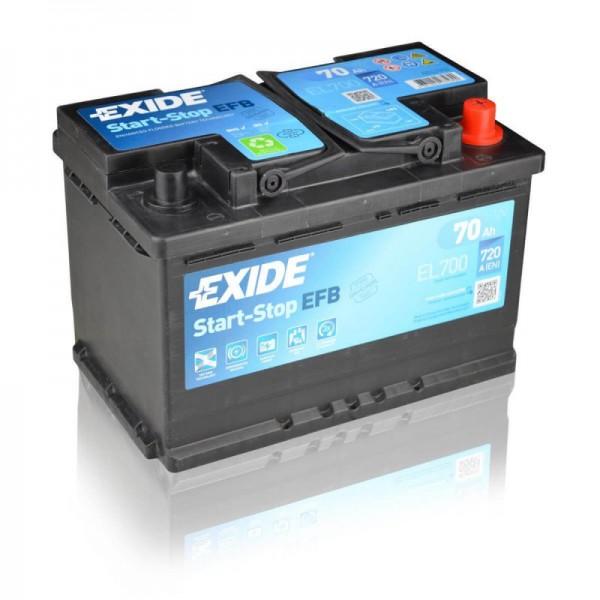 Exide EL700 EFB Autobatterie 70Ah