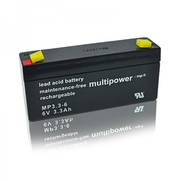 Multipower-MP3,3-6-6V-3,3Ah-USV-Batterie