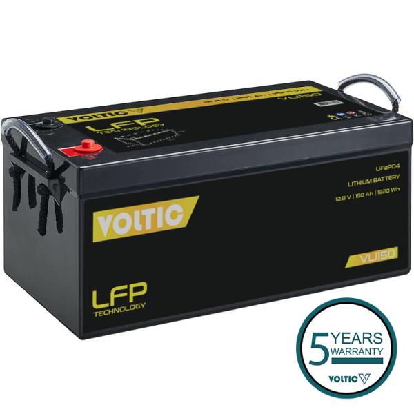 VOLTIC VLI150 12V LiFePO4 Lithium Versorgungsbatterie 150Ah